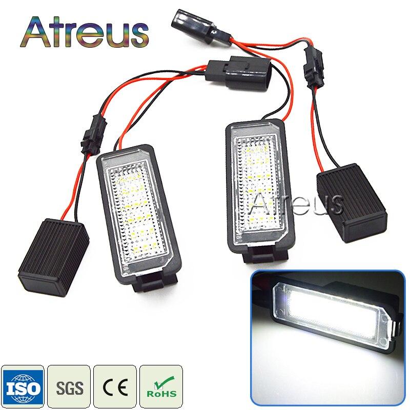 っAtreus 2x coche LED Marcos de matrícula luces 12 V no error para ...