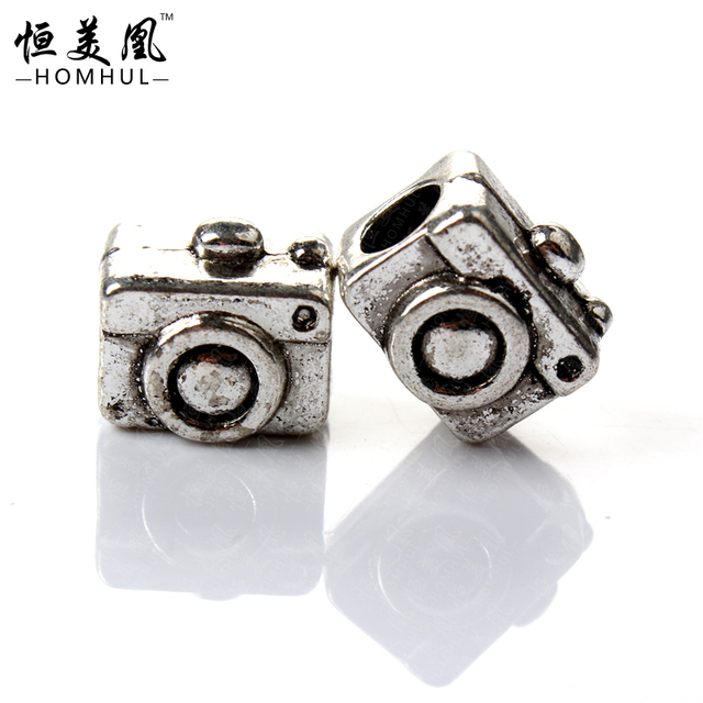 dd58fbdab 925 Sterling Silver Bead Charm European Silver Camera Bead Fits Pandora  Charm Bracelets For women Jewelry D5-13