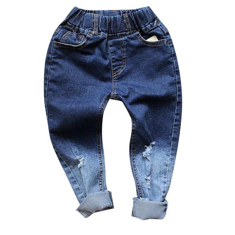 Baby Boys hole Pants Kids Clothing Cotton boys Long Trousers toddler boys denim Pants chidren clothes autumn