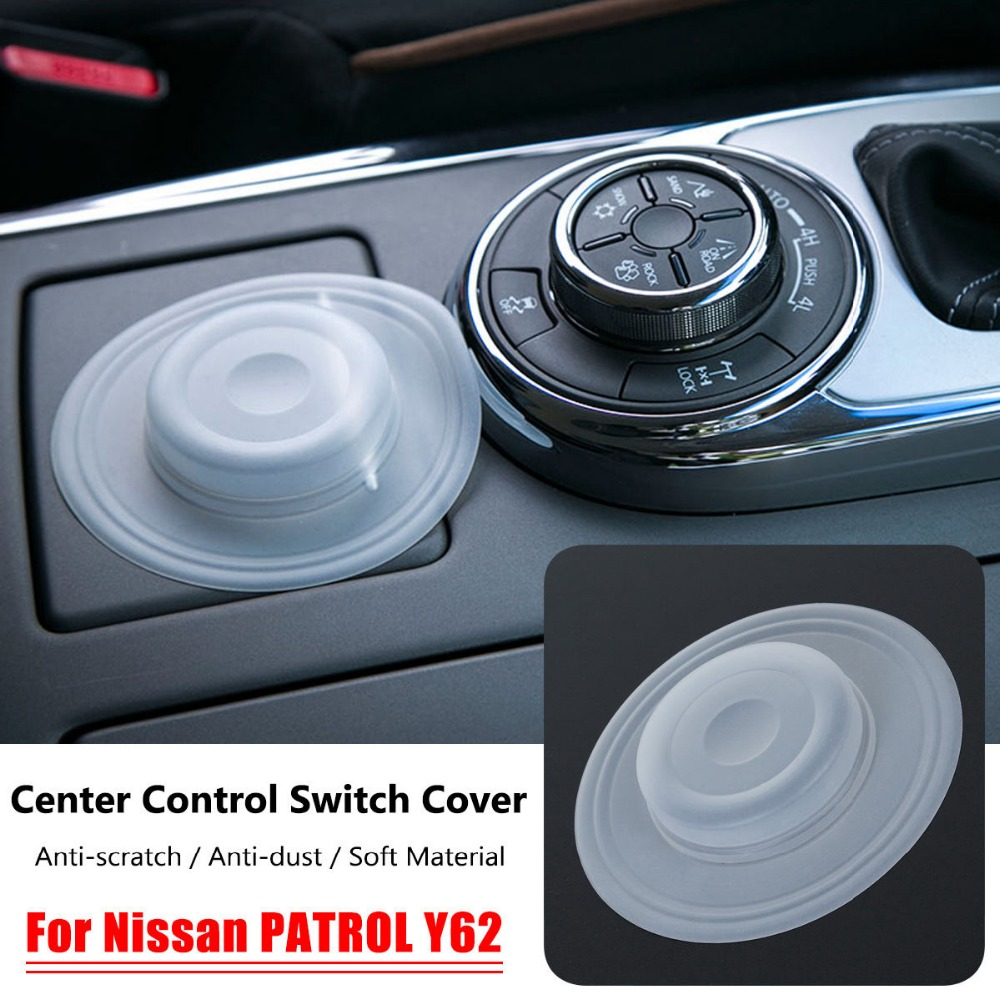 Car Center Console Control Switch Cover Silicone Anti-dust Protective Shell Car Styling For Nissan PATROL Y62 Honda Grom