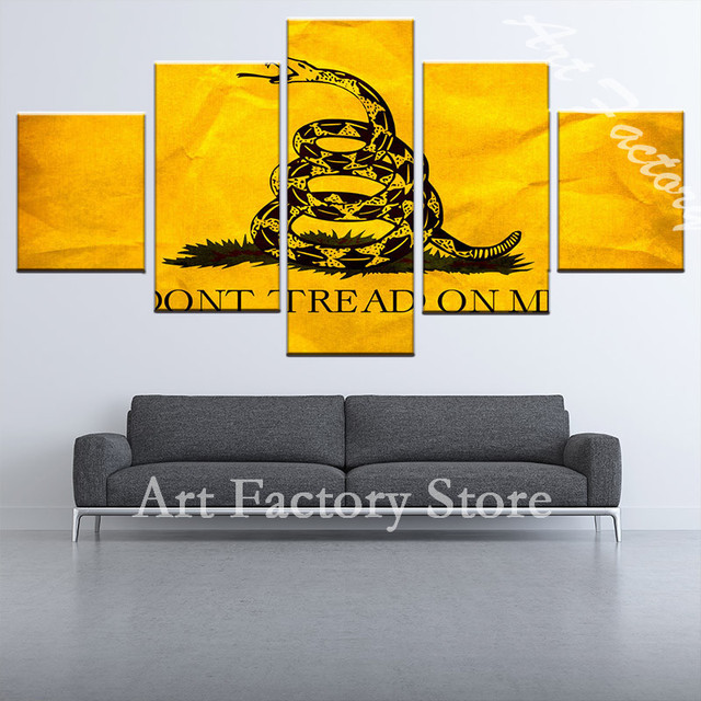 high quality 5 pieces fierce animal snake canvas painting for the ...