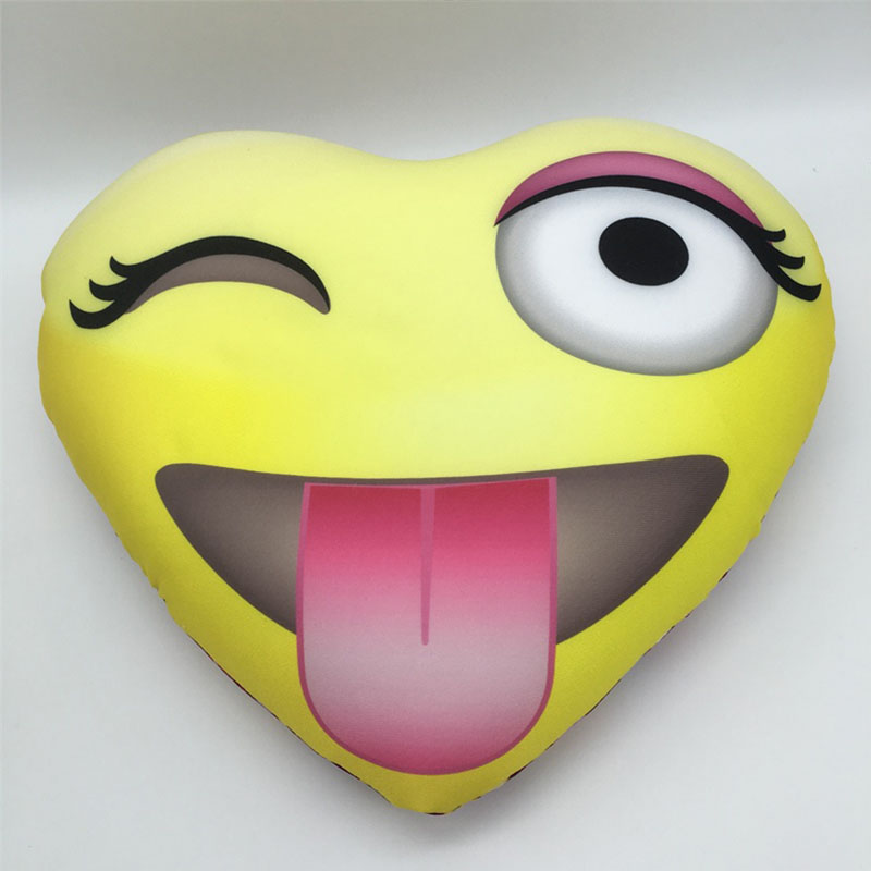Funny Emoji Baby Pillow Kawaii Smiley Decorative Cushion for Sofa Couch Children Stuffed Toy Kids Emotional Smile Face Pillows