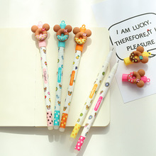 5 pcs Sweet cookie gel pen set 0.5mm Blue color ink pens Cartoon Stationery Office School supplies material escolar FB440