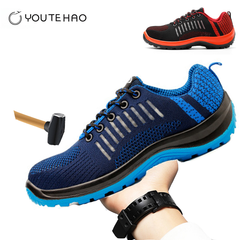 safety shoes electrician shoes Steel Toe  safety work boot for Men Anti smashing construction-in Work & Safety Boots from Shoes    1