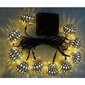Elecrow Elecrow 10 LED Linterna Solar Luces de la Secuencia de Navidad de Hadas de Navidad DIY Kit Decoración de Jardín Lámpara Solar LED Amarillo