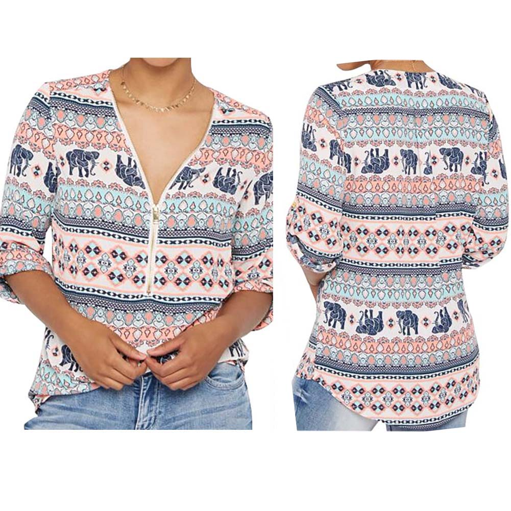 compare prices on elephant print blouse online shopping buy low