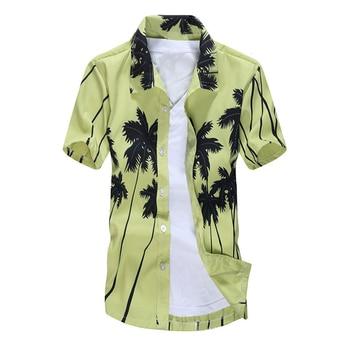 Mens Hawaiian Shirt Male Casual camisa m...