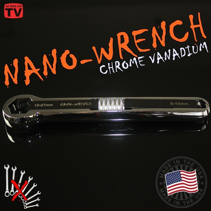Chrome Steel NANO Wrench Activity Wrench Universal Plum Blossom Multipurpose Wrench Easy Used chrome vanadium steel ratchet combination spanner wrench 9mm
