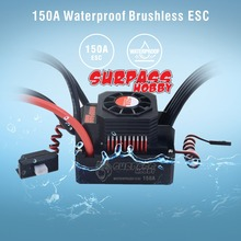 Surpass 3s-6s 150A Waterproof ESC Sensorless Brushless Speed Controllers for1/10 1/8 RC Buggy Monster truck Crawler Scale Truggy skyrc toro ts160 150a esc competition electronic speed controller for 1 10 1 10 scale rc car 1 8 1 8 scale rawler parts