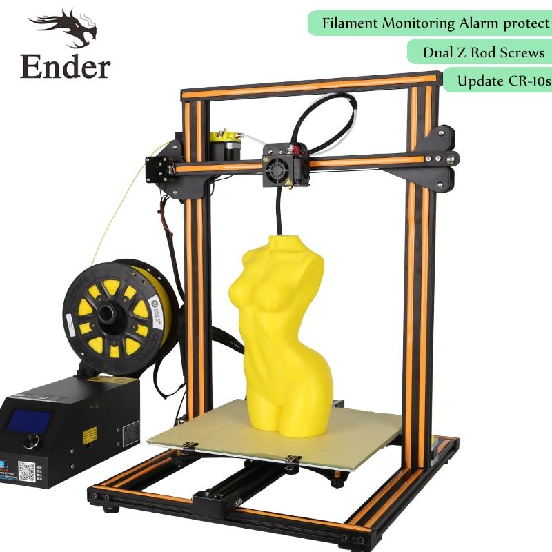 2017 Dual Z Rod Screws,CR-10s 3D Printer DIY KIT,Filament Monitoring Alarm Desktop printer 3D Large print Size  (Creality 3D) flsun 3d printer big pulley kossel 3d printer with one roll filament sd card fast shipping