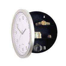 ABKM Hot White Wall Clock Hidden Safe,Clock Safe Secret Safes Hidden Safe Wall Clock For Secret Stash Money Cash Jewelry,Wall C