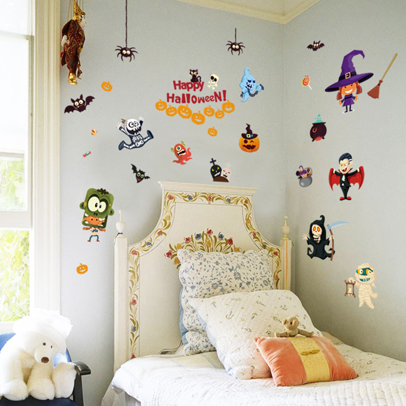 Pvc Wall Stickers Halloween Decoration Wall Decals Removable Sticker