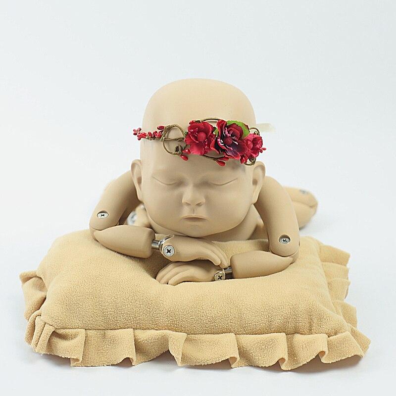 handmade Baby Headband, Newborn Headband, fałszywy kwiat, Baby Girl, - Odzież dla niemowląt - Zdjęcie 3