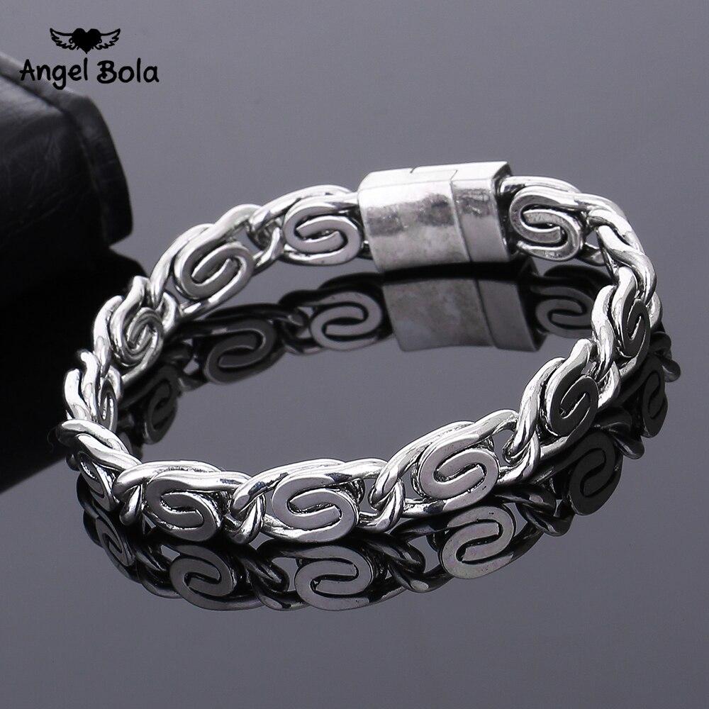 10pcs/lot Ancient Silver Fashion Punk Buddha Bracelet for Women DIY Bangles Charms Bracelets Men Pulseira Jewelry Gifts B1216-3