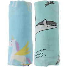 2pcs/Set Baby Blanket Bamboo Cotton Muslin Baby Swaddles For Newborns Double Layer Gauze Bath Towel Baby Wraps Stroller Cover