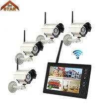"""Stardot камера видеонаблюдения """" TFT ЖК-монитор всепогодный беспроводной 4CH CCTV камера видеонаблюдения система наблюдения"""