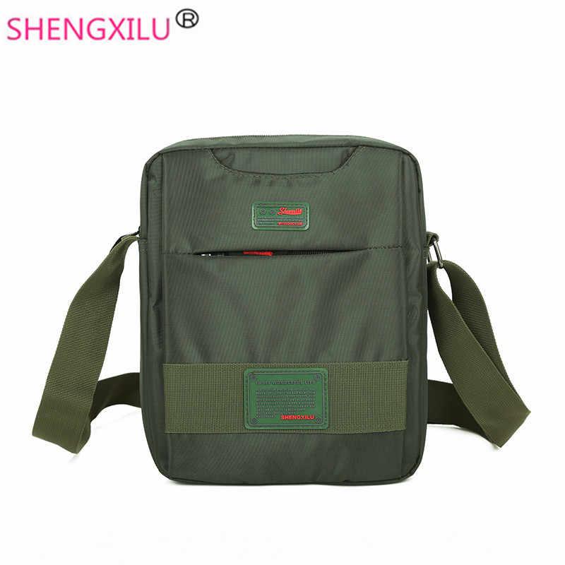 c564acd19ebd ... Shengxilu деловая мужская сумка на плечо Повседневная мужская сумка-мессенджер  дорожная сумка через плечо логотип