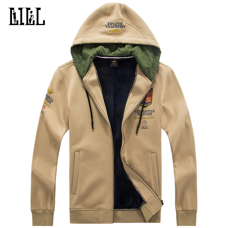 Men Spring Air Forces One Warm Sweatshirt Military Style Embroidery Hoodies Army Men's Fleece Hoodie Male Cotton Hoody,UMA440