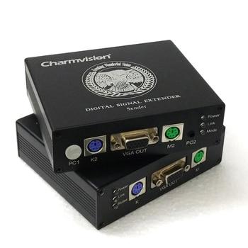 Charmvision EKP100HR EKP200HR EKP300HR 100m 200m 300m PS/2 Keyboard Mouse VGA KVM Extender via single UTP STP cat5E cat6 cable