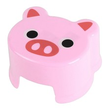 Hot Sale Cartoon Animal Children Antiskid Stool Bathroom Stool Feet Stool ,Pink Piggy(China)