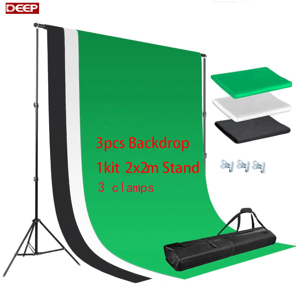 2M X 2M Adjustable BACKGROUND HOLDER Muslin Background Backdrop Support System Stand Kit Carrying Bag 3pcs 2x3 Cotton Backdrop dhl free 10ft x 6 5ft background holder 3m x 2m adjustable muslin background backdrop support system stand kit carrying bag