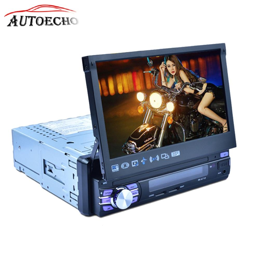 7 Inch Telescopic Car Multimedia Player MP5/Audio/video/WIFI Player Quad-core Android 6.0 System GPS Navigation Reverse Display td070wgcb2 supply original tongbao 7 inch car audio navigation display lamp