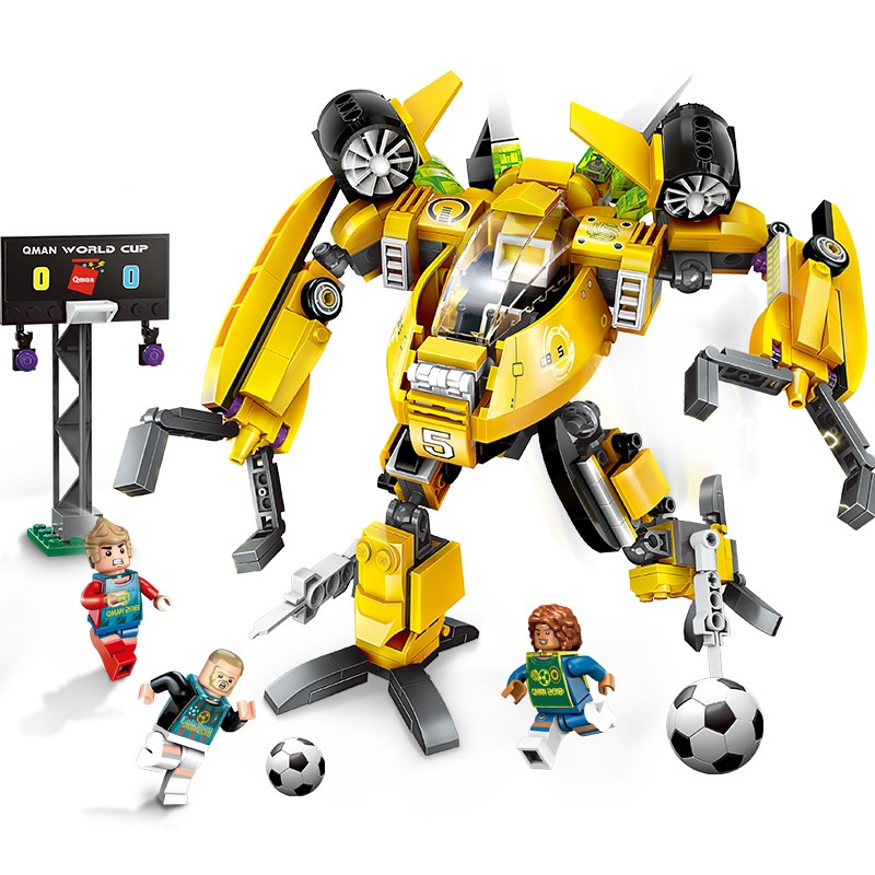 Enlighten Future Warrior Football Century Steal Robot Building Blocks Sets Bricks Model Kids Toys Compatible Legoings Ninja