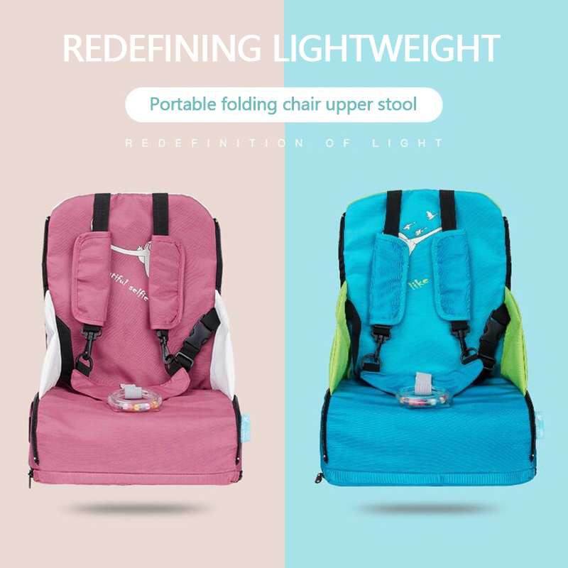 Baby Chair Portable Folding Infant Seat Product Dining Lunch Chair Bag Three-point Safety Belt Multifunction Booster Seats Bags