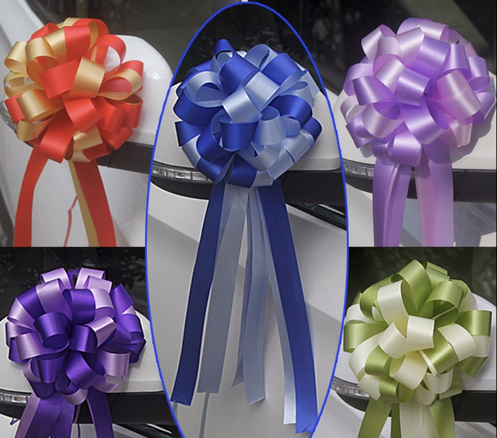 Beautiful two tone 3x110cm large pull bow ribbon flowers for gift beautiful two tone 3x110cm large pull bow ribbon flowers for gift wrap packaging party wedding car decoration 20pcslot in party diy decorations from home mightylinksfo