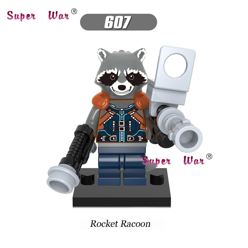 20pcs star wars Guardians of the Galaxy Rocket Raccoon building blocks figure bricks model Collection classic baby toys