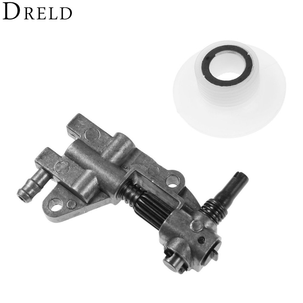 DRELD Drive Chainsaw Oil Pump with Gear Worm Set for Chainsaw 4500 5200 5800 45CC 52CC 58CC Chain Saw Parts Garden Tool Parts