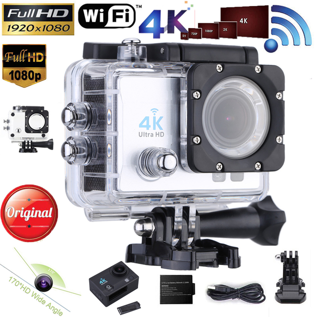 ES STOCK Andoer 4K Wifi Sports Action Camera 16MP 1080P Video Camera Sports DV 170 Degree Wide-Angle Mini Camcorder Diving 30M