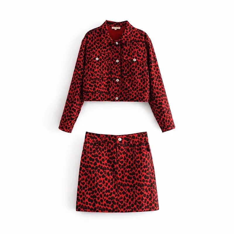 Летние 2019 джинсы с высокой талией, женские юбки в стиле casual с карманами Джинсы юбка Уличная одежда в Корейском стиле; Модный Леопардовый принт, сексуальный мини-юбка