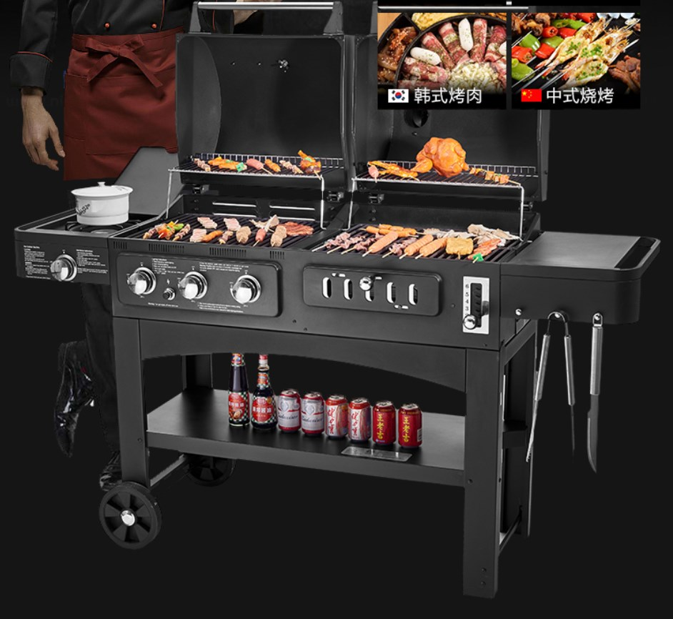 supper quality outdoor gas and charcoal BBQ grill ,double ...