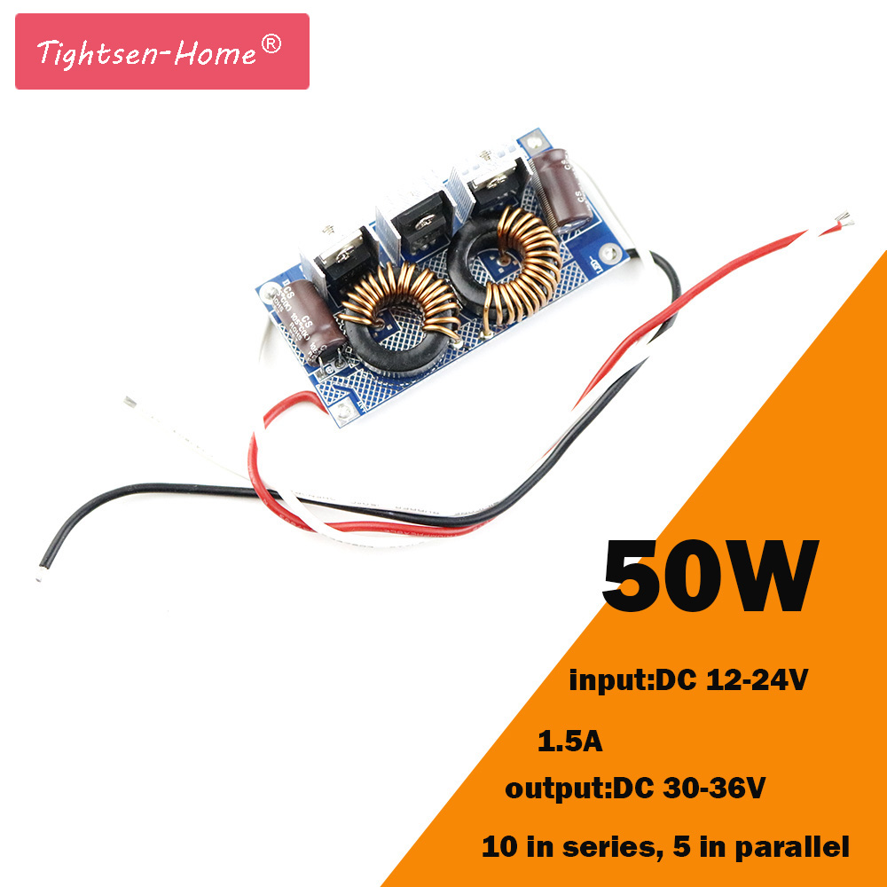 50W LED Driver Constant Current 1500mA 50x1W DC 30V~36V Led Driver Power Supply DC 12-24V for LED lights Lighting Floodlight kvp 24200 td 24v 200w triac dimmable constant voltage led driver ac90 130v ac170 265v input