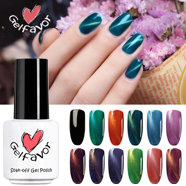 Nails Art & Tools Gentle Gelfavor Uv Flower Cat Eye Magnet Nail Painting Stick Gel Nail Polish Led Art Nail Double Head Painting Magic Pen