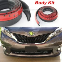 Car Front Lip Side Skirt Body Kit Trim Front Bumper Lip For Toyota EZ Corlla Prius YARiS RAV4 VIOS Camry LEVIN REIZ All Car