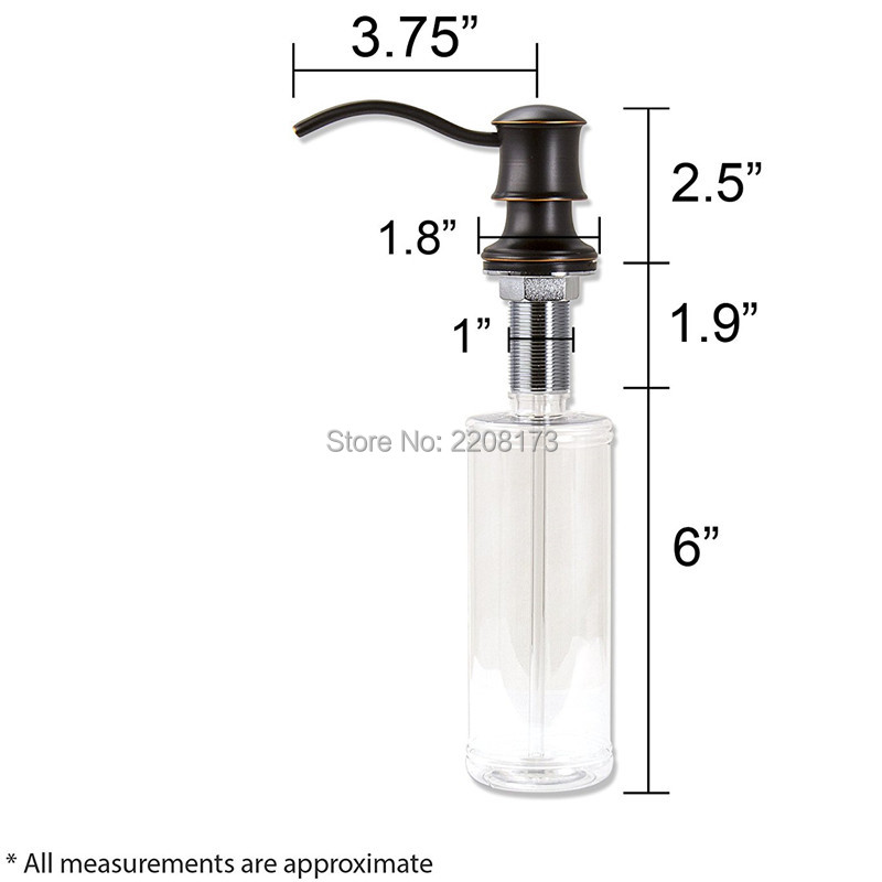Wholesale Promotional High Quality Antique Country Black Oil Rubbed Bronze Kitchen Countertop In Sink Liquid Dish Soap Dispenser Liquid Soap Dispensers