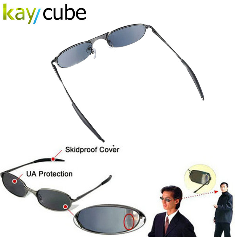 High-tech Anti-tracking Sunglasses Rear View Sun Glass Behind Monitor Mirror Anti-Track Glasses Eye Wear Safe Kaycube(China)