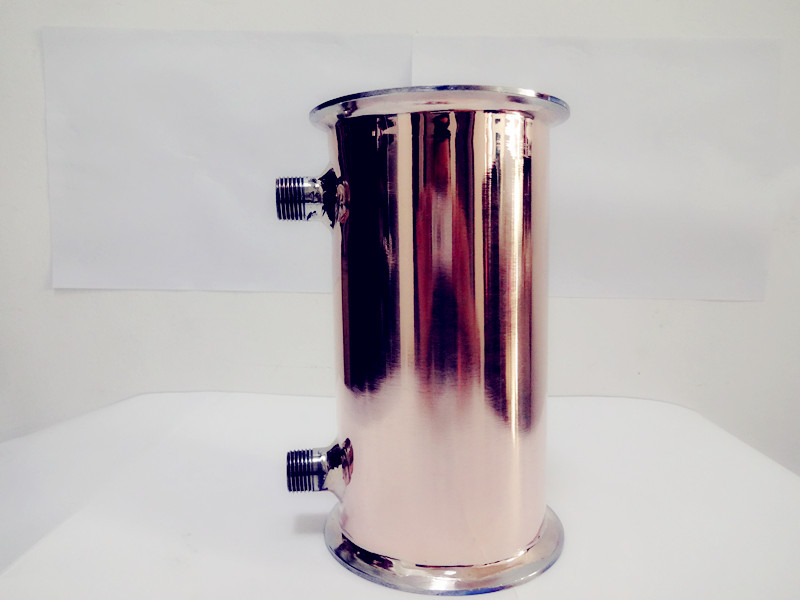 Free Shipping 4(102mm)OD119mm, Copper Sanitary Dephlegmator Lenght 150mm Thickness 2mm dn19 manual sanitary aseptic sampling valve