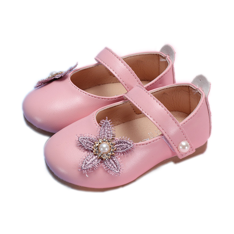 COZULMA Baby Girl Pearl Hook Loop Shoes Toddler Kids Party Anti slip Flower Flat Shoes Baby Spring Shoes Enfants Size 15 25 in Sneakers from Mother Kids