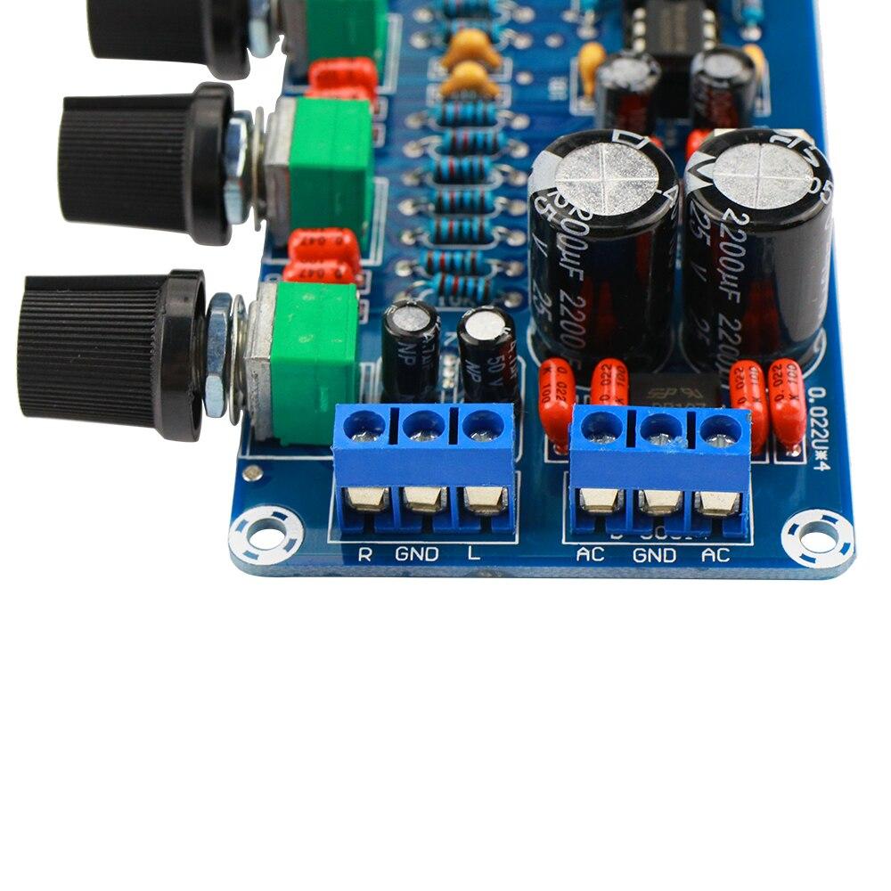 Обновленный усилитель NE5532, преусилитель, регулятор громкости, готовая плата, Высокочастотный Низкочастотный бас эквалайзер, сделай сам, Дв...