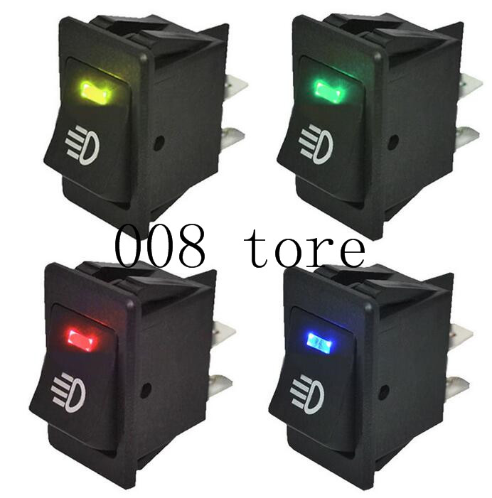 Switches Lighting Accessories Universal Car Auto Fog Light Rocker Toggle Switch B35 Dc 12v 35a 4pins Led Dashboard Led Color Red Green Amber Blue White Pleasant In After-Taste