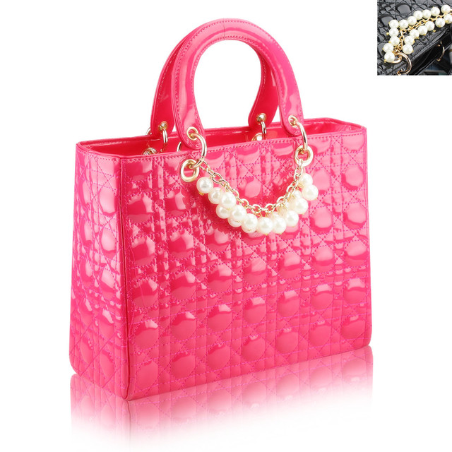Bling Recommend Free Shipping 100% Quality Guarantee Luxuary Pearly Patent Leather Women Handbags+Tote Bag Best Selling
