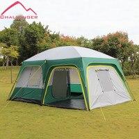 2014 vendita calda/ale challenger 8-10 persone grande famiglia doppio strato di campeggio esterna pioggia/tenda impermeabile 2 camere da letto 1 soggiorno
