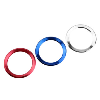 Jameo Auto 3D Stainless Steel Car Steering Wheel Circle Trim Sticker Case for BMW E39 E36 E60 E90 E34 E46 Car Accessories image