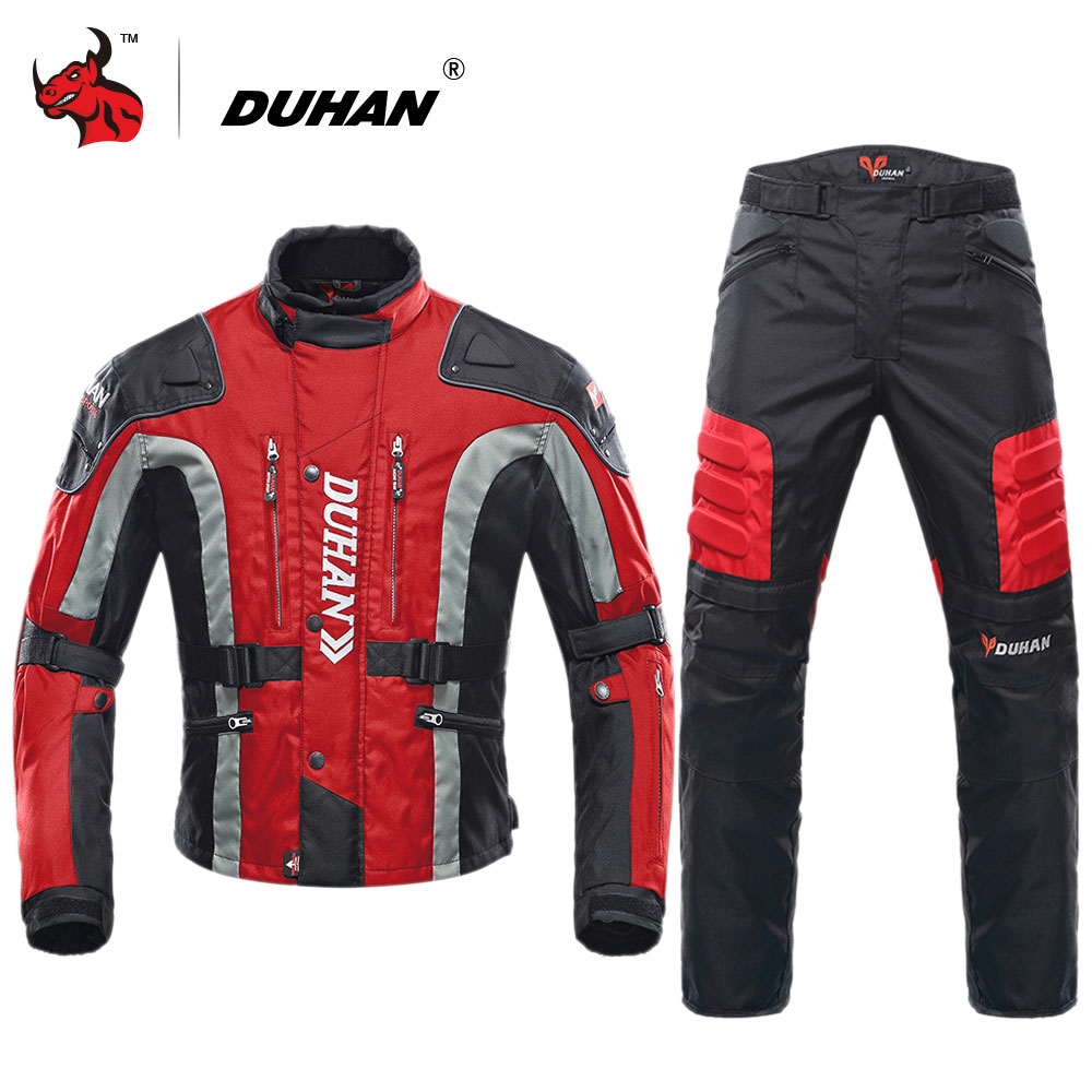 DUHAN Motorcycle Jacket Motocross Equipment Cotton Underwear Cold proof Moto Jacket Protective Gear Men Motorcycle Clothing