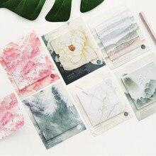 1 шт., креативные Цветные самоклеящиеся блокноты для заметок, Липкие заметки, различные стили, закладки, канцелярские товары, школьные офисные принадлежности
