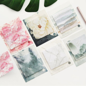цена на 1Pcs Creative Colorful  Self Adhesive Memo Pad Sticky Notes Various Style Bookmark Stationery School Office Supply