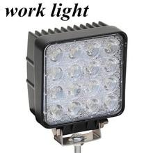wholesale 2pcs 48W work light lamp  Flood beam  Off Road Truck Trailer Interior and Exterior Lighting 10-30V DC fog lamp light